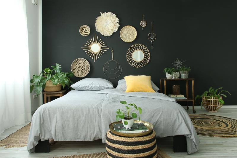 Boho-Schlafzimmer-einrichten-Einrichtungsideen-Wohnzimmerideen-Stylingidee-Styling-Interior