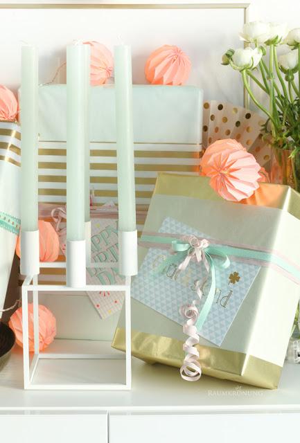 Teeniegeburtstag Geschenke verpacken DIY Deko