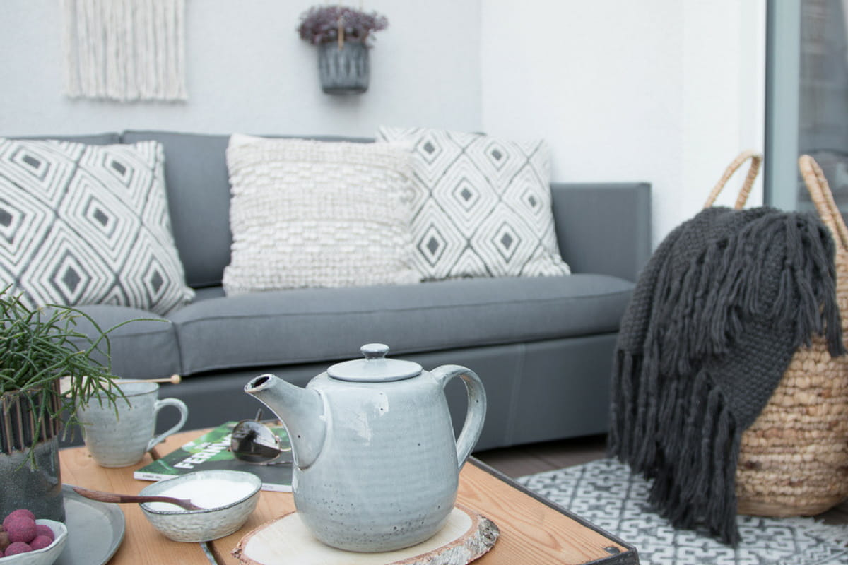 How to create - Scandi Boho Style auf der Dachterrasse