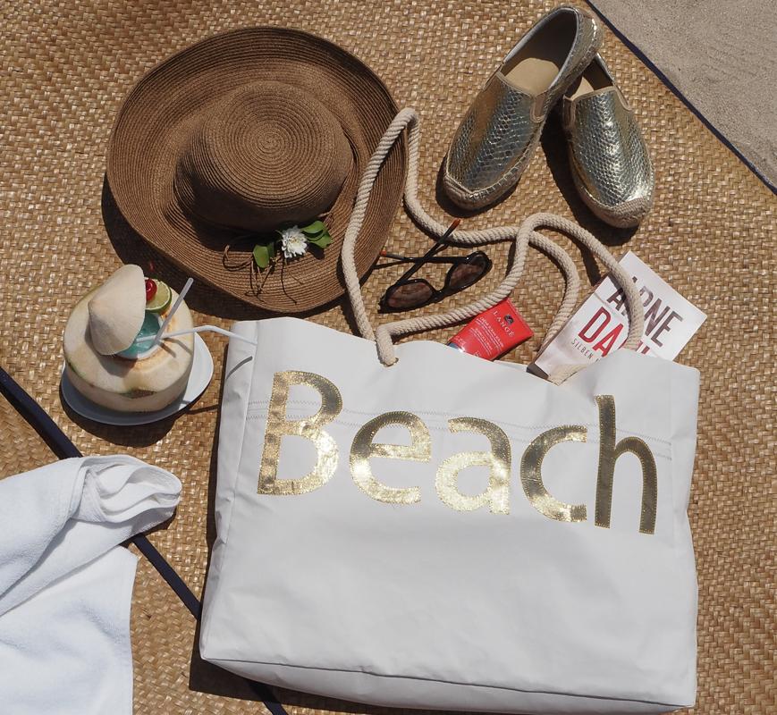 Eine leichte Strandtasche, die viel Platz bietet. Einfach Selbernähen.