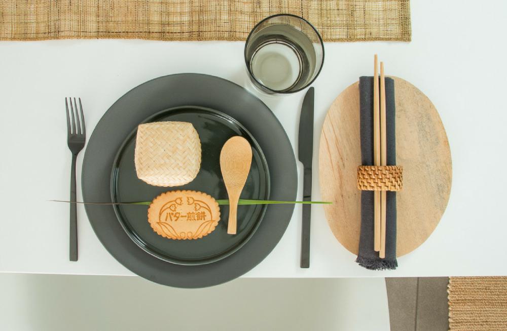 Tischdeko, Japandi, Telledeko, schlicht
