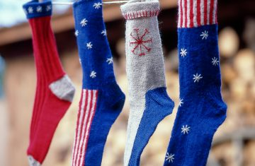 Socken stricken-Geschenkidee-Amerika-stars and stripes
