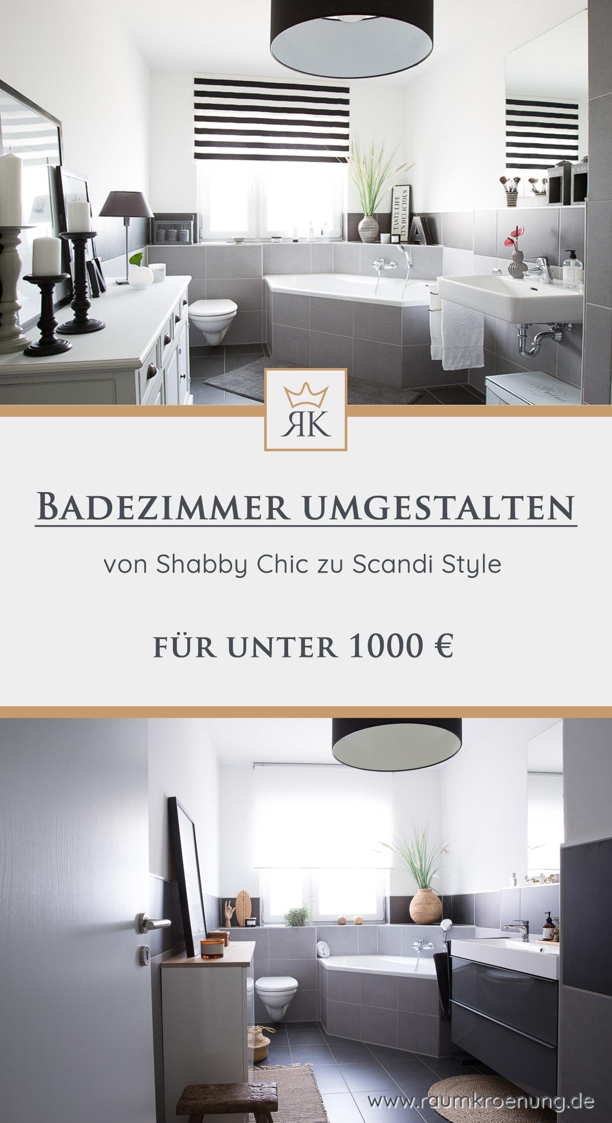 Günstiges Badezimmer Umstyling | Tipps zu Farben, Bad-Accessoirs und Planzen | Raumkrönung - Wohnblog, Wohnberatung & Einrichtungstipps