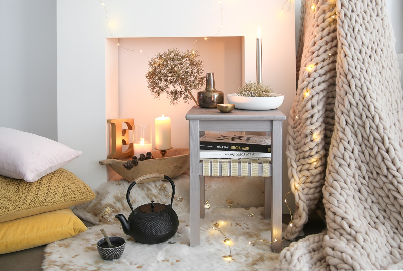 Hocker für ein hyggeliges Zuhause selbermachen I IKEA Hack I Raumkrönung I Einrichtungstipps & Wohnberatung