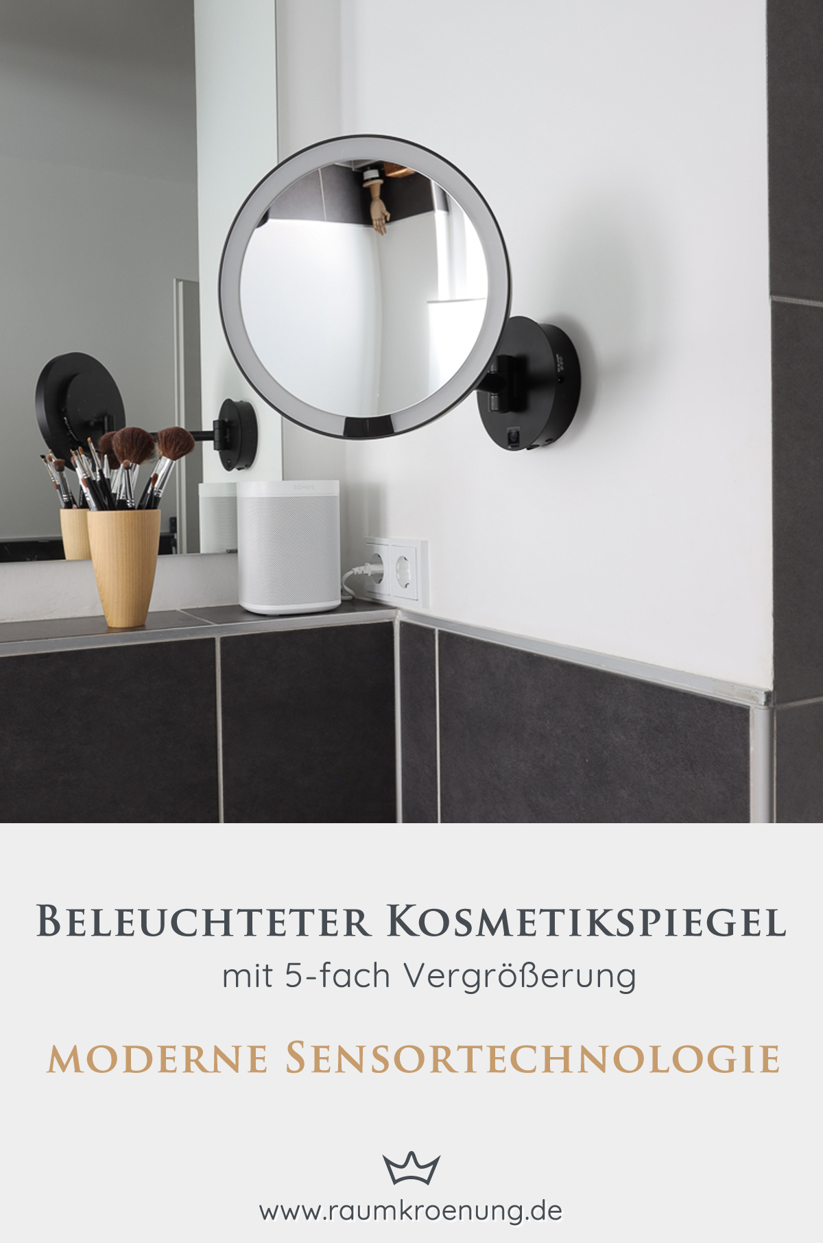 Kosmetikspiegel mit Akku I Beleuchteter Kosmetikspiegel ohne Direktanschluss